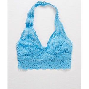 NWT Aerie lace bralette blue small